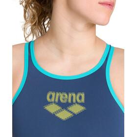 arena One Biglogo One Piece Badeanzug Damen shark/mint